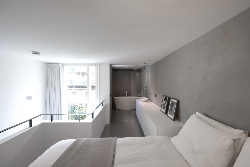 loft amsterdam, open badkamer
