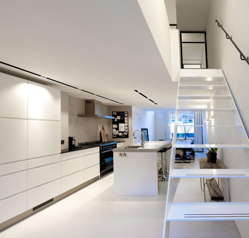loft amsterdam, open keuken, vide