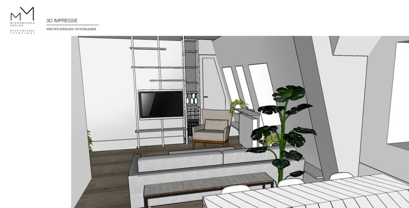 nieuwe indeling woonkamer 1