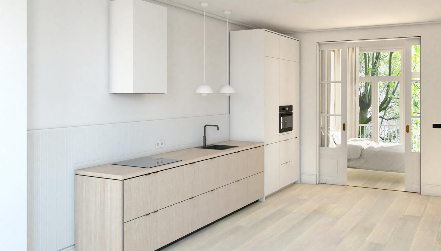 impressie keuken slaapkamer