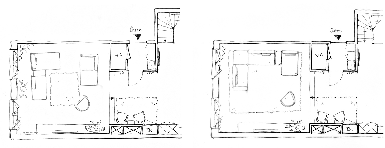 schets indeling livingroom